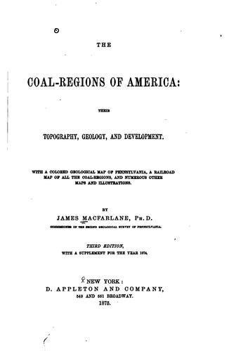 The coal-regions of America