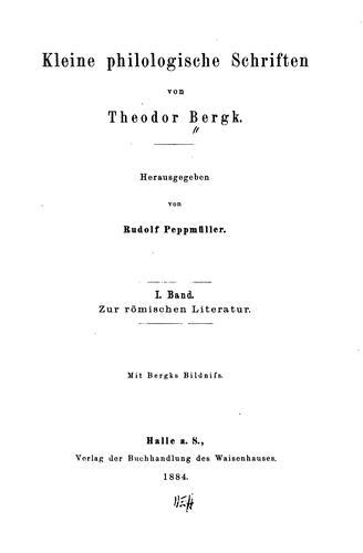Download Kleine philologische Schriften