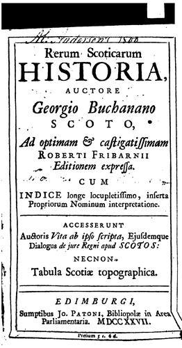 Download Rerum scoticarum historia