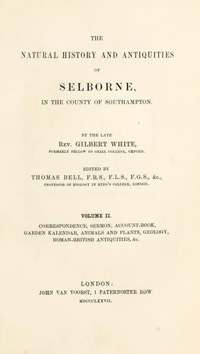 Download The natural history and antiquities of Selborne, in the county of Southampton.
