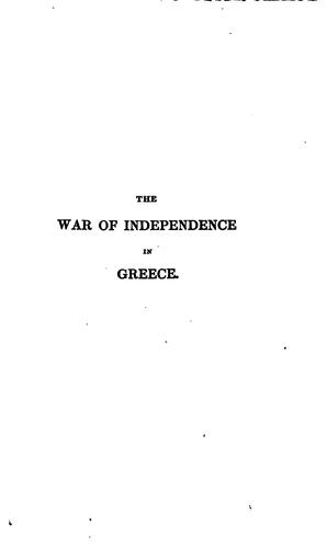History of the war of independence in Greece