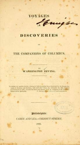 Download Voyages and discoveries of the companions of Columbus