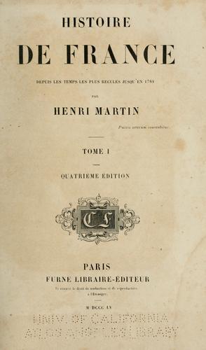 Download Histoire de France, depuis les temps les plus reculés jusqu'en 1789