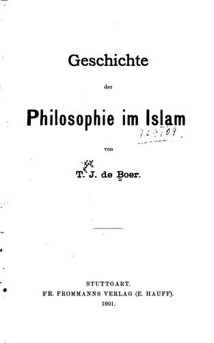 Download Geschichte der philosophie im Islam