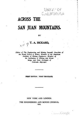 Download Across the San Juan mountains.