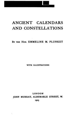 Download Ancient calendars and constellations