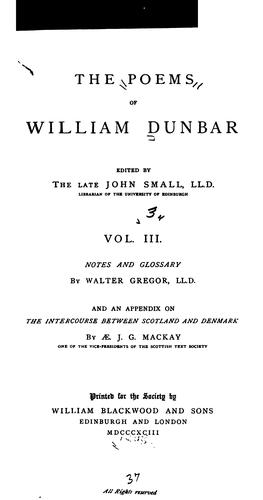Download The poems of William Dunbar
