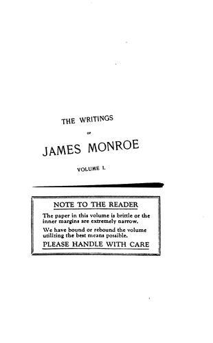 The writings of James Monroe