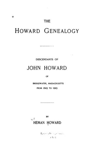 The Howard genealogy