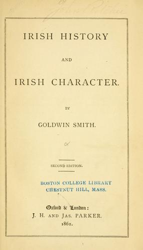 Irish history and Irish character.