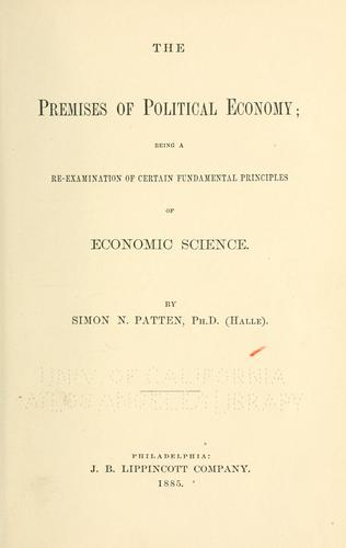 Download The premises of political economy