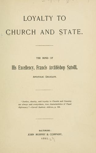 Download Loyalty to church and state