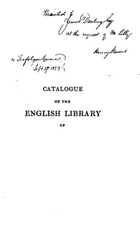 Download Catalogue of my English library