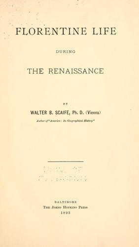 Download Florentine life during the renaissance