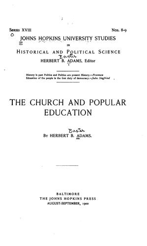Download The church and popular education