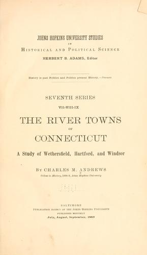 The river towns of Connecticut