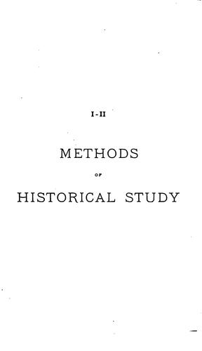 Download Methods of historical study