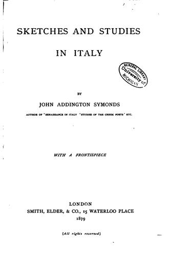 Download Sketches and studies in Italy and Greece