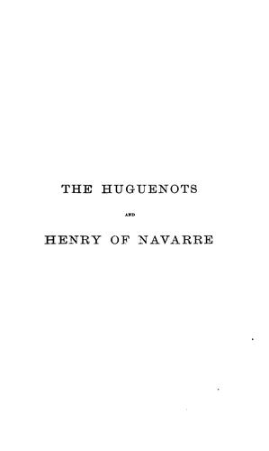 The Huguenots and Henry of Navarre