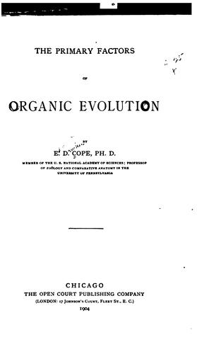 Download The primary factors of organic evolution