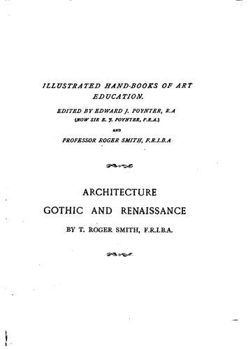 Architecture, Gothic and renaissance