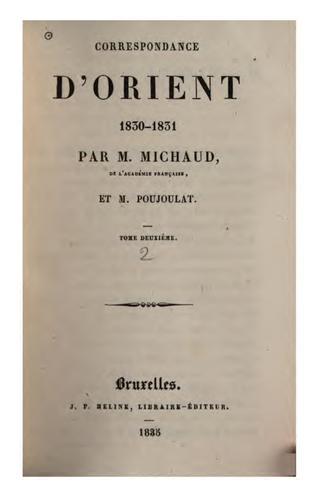 Correspondance d'Orient, 1830-1831