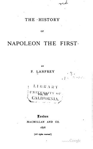 Download The history of Napoleon the First