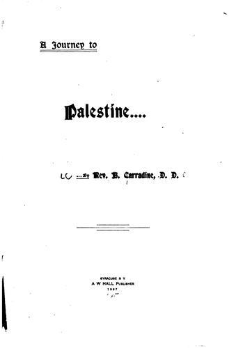 Download A journey to Palestine.