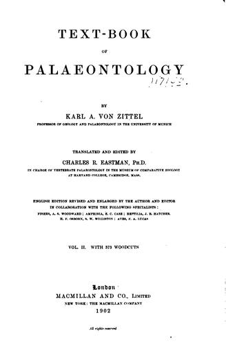 Download Text-book of paleontology