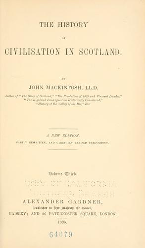 Download The history of civilisation in Scotland.