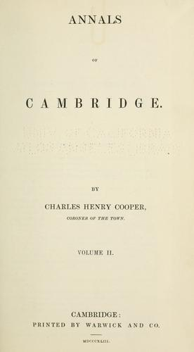Annals of Cambridge.