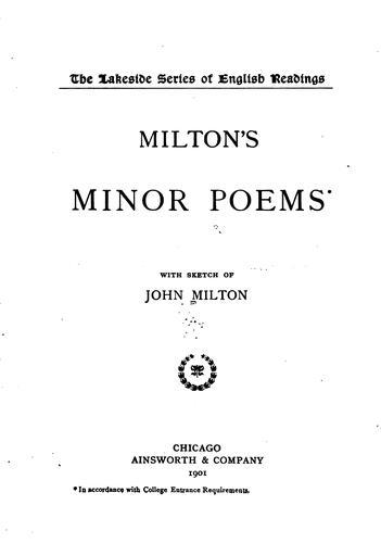 Milton's minor poems