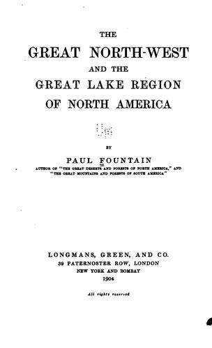 Download The great North-west and the great lake region of North America