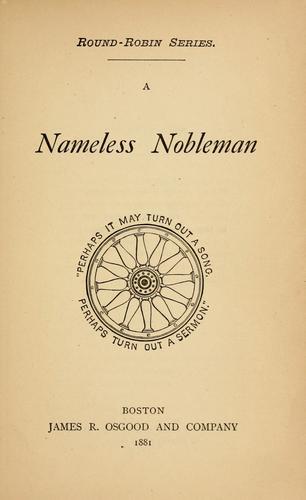 A nameless nobleman …