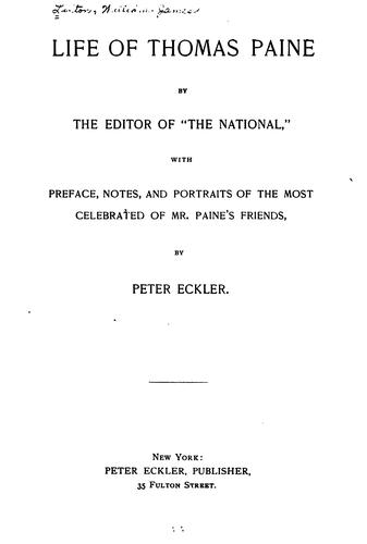 Download Life of Thomas Paine.