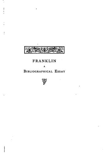Download Benjamin Franklin's life and writings