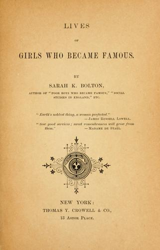 Download Lives of girls who became famous.
