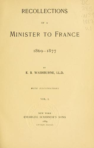 Download Recollections of a minister to France, 1869-1877