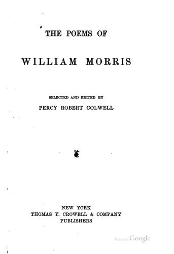 Download The poems of William Morris