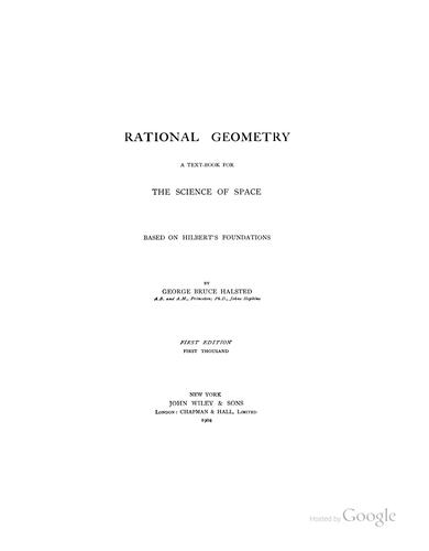 Rational geometry