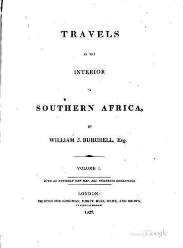 Download Travels in the interior of southern Africa