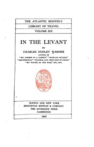 Download In the Levant