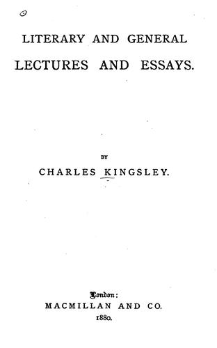 Download Literary and general lectures and essays