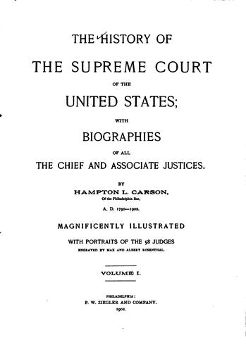 Download The history of the Supreme Court of the United States