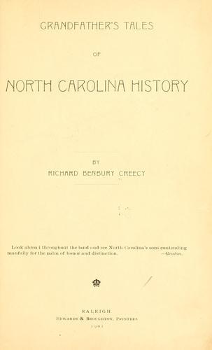Download Grandfather's tales of North Carolina history.