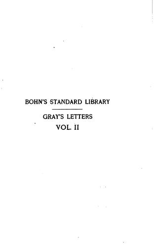 Download The letters of Thomas Gray