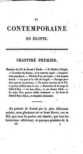 Download La contemporaine en Égypte.