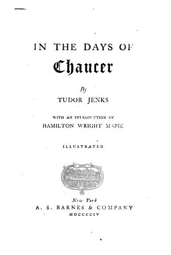 Download In the days of Chaucer