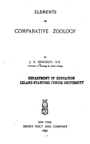 Download Elements of comparative zoology.