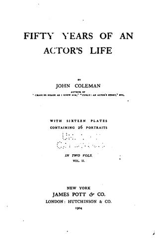Fifty years of an actors̓ life